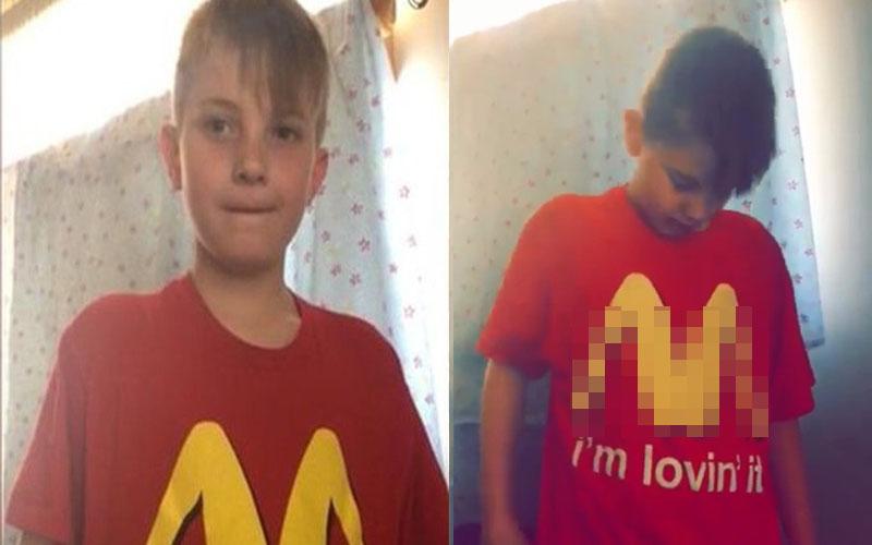 天兵媽媽讓兒子穿「麥當勞T-shirt」去上學,晚上一看嚇傻道歉:「我對不起整間學校!」