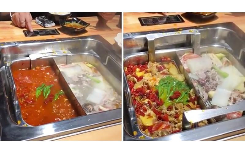 一個按鈕菜湯「自動分離」!超方便自動升降火鍋 讓菜湯一秒分離