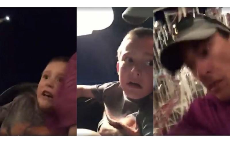 玩雲霄飛車「兒子的安全帶」卻突然鬆開,眼看整個人快被甩飛....爸爸及時抓住掉落兒