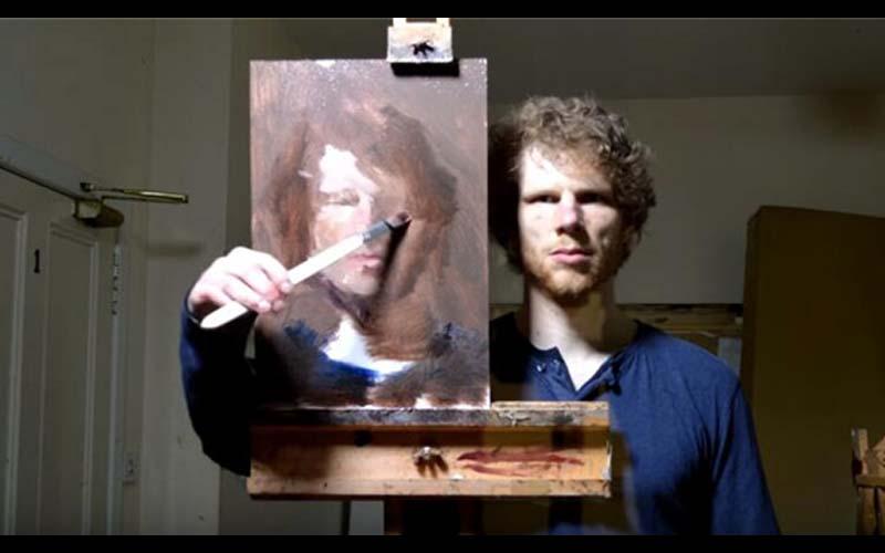 這名超狂畫家「對著鏡子畫自畫像」這比對著照片畫像的難度高多了!