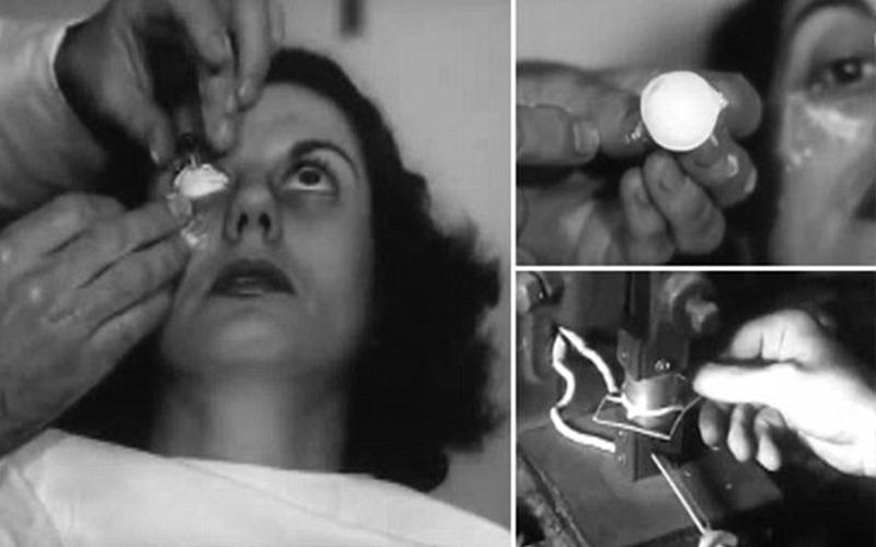 1948年的隱形眼鏡是這樣製作的!看完大家都要跪著感謝自己出生在現代!