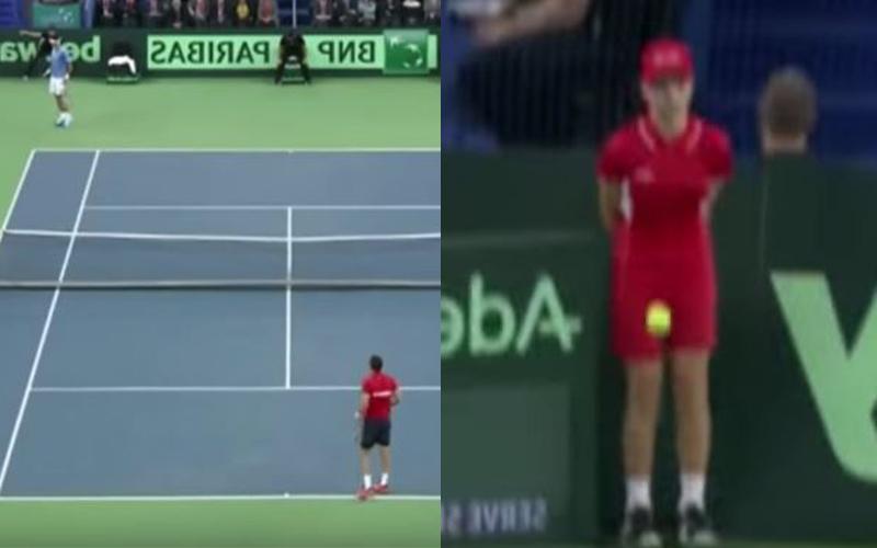 女球僮「下腹被擊中」痛到泛淚也不敢動,暖男網球手當場不顧比賽走過去關心,觀眾歡呼!