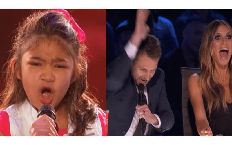 9歲女孩說要「成為下一位惠妮休斯頓」評審只是笑笑,結果一開口不得不按下黃金按鈕了!