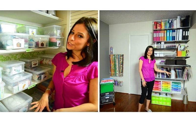 你看過「收納達人」的家嗎? 光是打開櫃子就足以讓人驚豔!但她的工作室「更誇張」