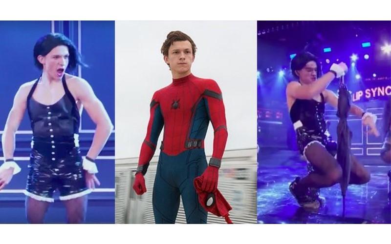 蜘蛛人大跳蕾哈娜《Umbrella》!豁出去「穿網襪熱舞+無違和對嘴」騷到粉絲受不了XD