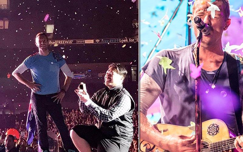 Coldplay演唱會緊急暫停「全員見證粉絲求婚」一開始女主角還是錯的全場笑翻!