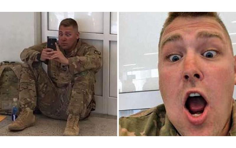 來不及趕回家!美國大兵只好「視訊看老婆生產」,突然手機傳來一聲響亮哭聲....