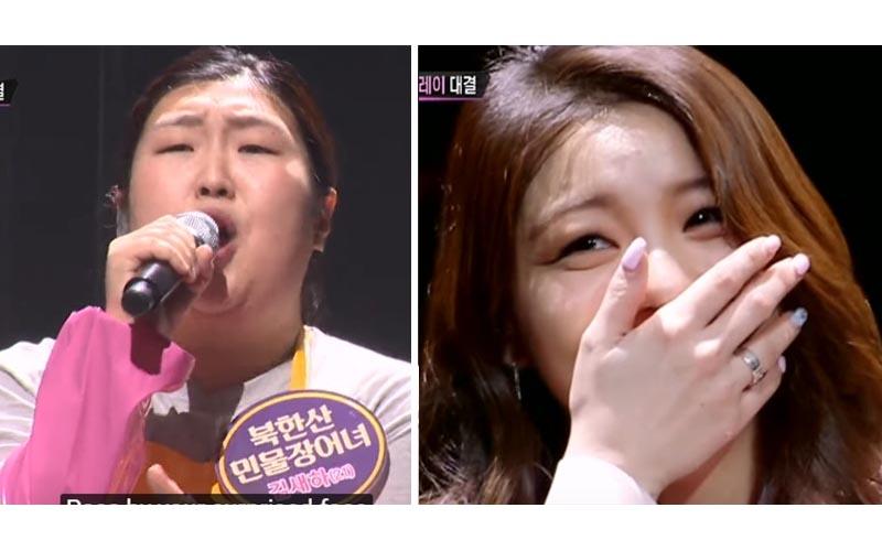韓國素人「節目PK鐵肺女王」超猛飆高音「征服全場」歌后瞬間變粉絲!
