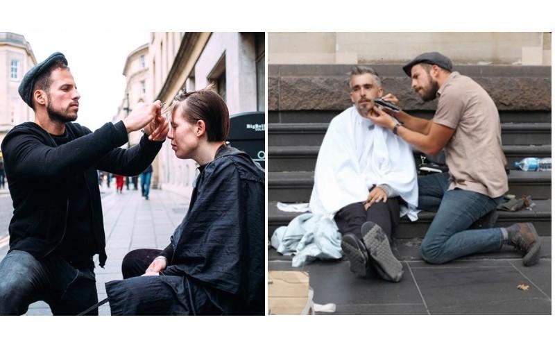 這位髮型師在街頭「免費」替流浪漢剪髮!不但剪出天菜型男也剪出一個個「嶄新人生」暖哭網友