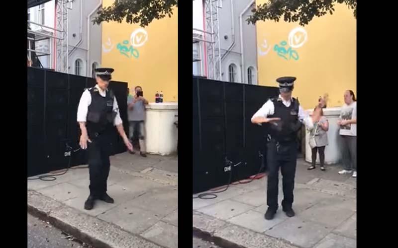 警察值勤時,聽到音樂忍不住舞魂附身,帥氣舞姿讓全場沸騰!