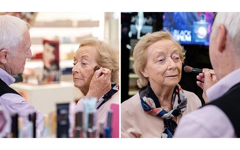 老伴眼力逐漸退化...84歲老爺爺「從零開始」學化妝 只為替她保持美麗模樣
