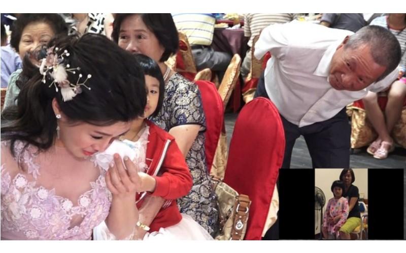 舅舅代替她「離世的父親」錄一段話新郎給新郎...短短2分鐘讓新娘「淚崩」但親友卻全笑場