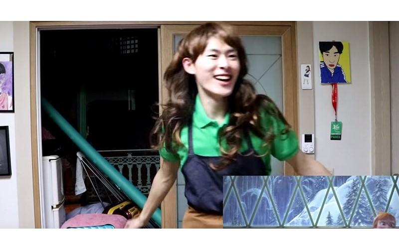 韓國歐巴低成本還原《冰雪奇緣》mv!當「Elsa」一現身....笑哭了XDD