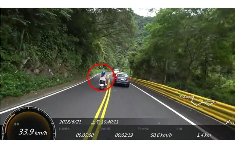 療癒片/小屁孩載熱褲妹跨雙黃線「超警車」...下一秒直接GG啦:當警車紙紮的?