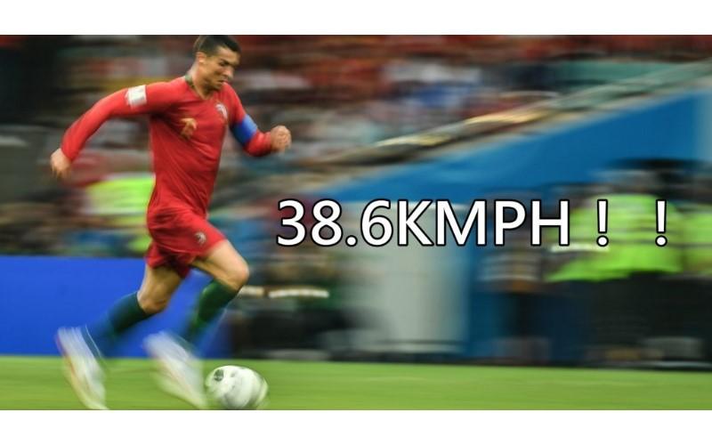 破世界紀錄!C羅比賽中衝刺達38.6KMPH,這比牙買加閃電均速還快 (影)