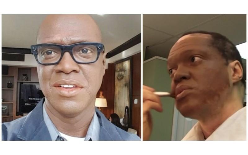黑人主播怕失業「25年來天天化妝上班」 每年僅一天「露出真面容」網友讚:比化妝帥!