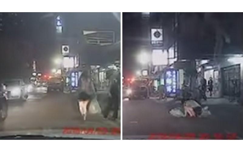 女子猛追垃圾車 下一秒...慘「仆街」 車主魔性笑聲搶走焦點