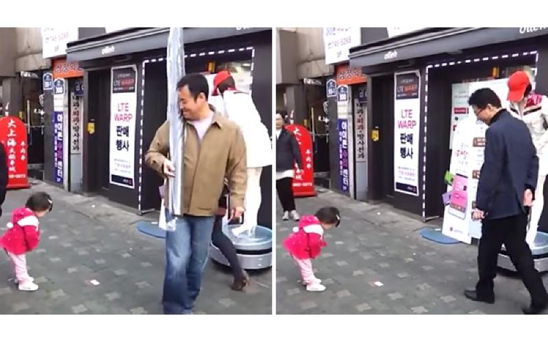 「做人要有禮貌!」小女孩看到機器人鞠躬....每一次都「不忘回禮」