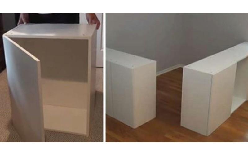 DIY神手把「7個IKEA櫃子」改造成夢幻家具!根本全能改造王阿~