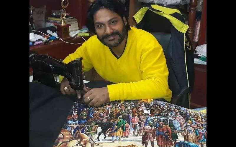 印度畫家用裁縫機作畫,每幅作品都栩栩如生,網友震撼「簡直是神之手阿!」