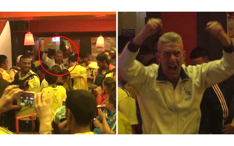 酒吧裡全是敵隊球迷!英格蘭粉絲贏球自己一人「忘情High爆」