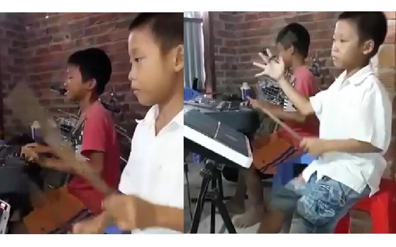 兩位越南小男孩自學樂器改編《西遊記》,帥氣轉鼓棒大秀超強天賦 網友讚:高手在民間!