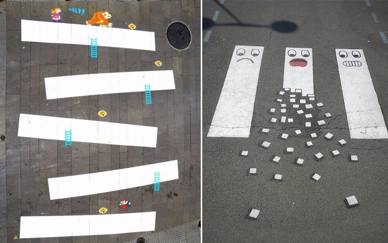 法國藝術家大膽玩《斑馬線街頭藝術》,調皮逗趣的斑馬線你看過嗎?