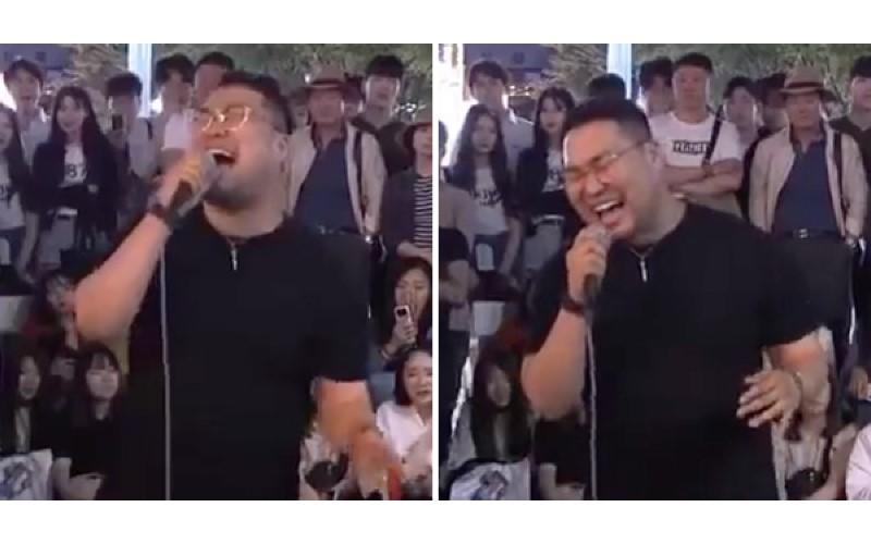 韓國大叔飆唱高難度歌曲《Chandelier》 「超猛飆高音」制霸全場