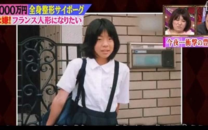 這位日本妹因嫌棄亞洲臉孔很醜,狂整50次將自己變成法國洋娃娃!整到連親媽都認不出來!