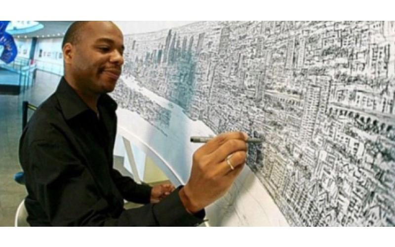 人肉照相機!自閉畫家「只需看一眼」就能畫出整個城市 現場畫出超猛神作...連細節也都不放過!