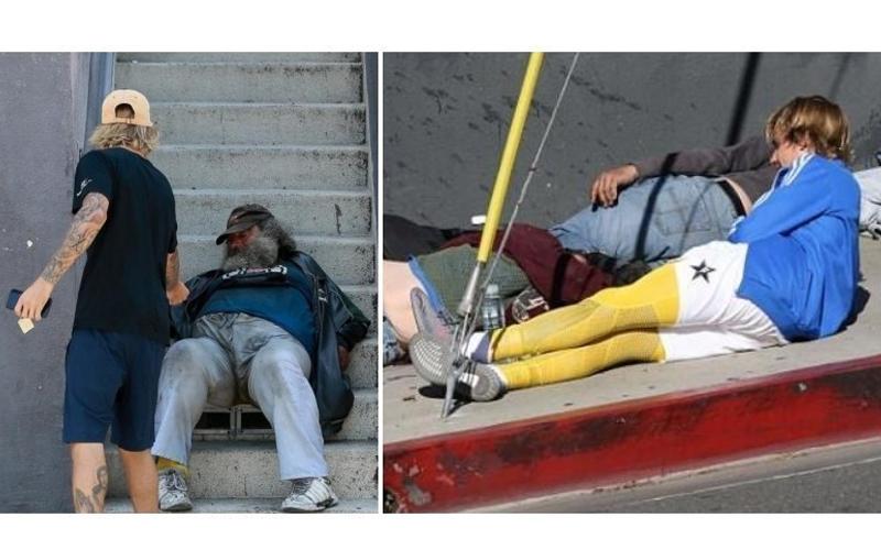 形象大逆轉!小賈斯汀路邊見流浪漢主動掏錢,被拍到直接「躺在人行道上關心」 網友驚:私下大暖男!