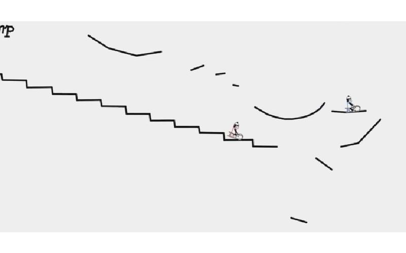 三個手繪小人「坐車在線條穿梭」配合《胡桃鉗》樂曲  生動表現看100遍也不膩