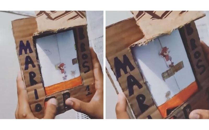 沒錢買電動!男孩自製「超級瑪利歐」最後「破關畫面神還原」任天堂快找他