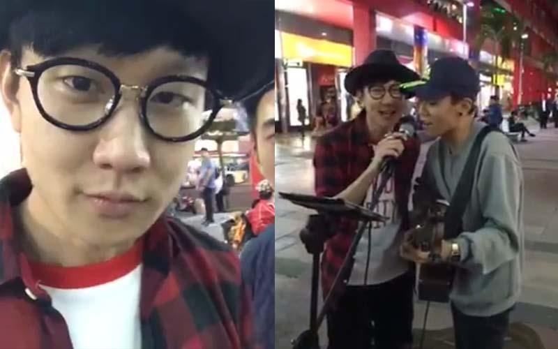 林俊傑逛街時,巧遇街頭藝人正在唱《江南》忍不住上台幫合唱,現場觀眾樂翻了!