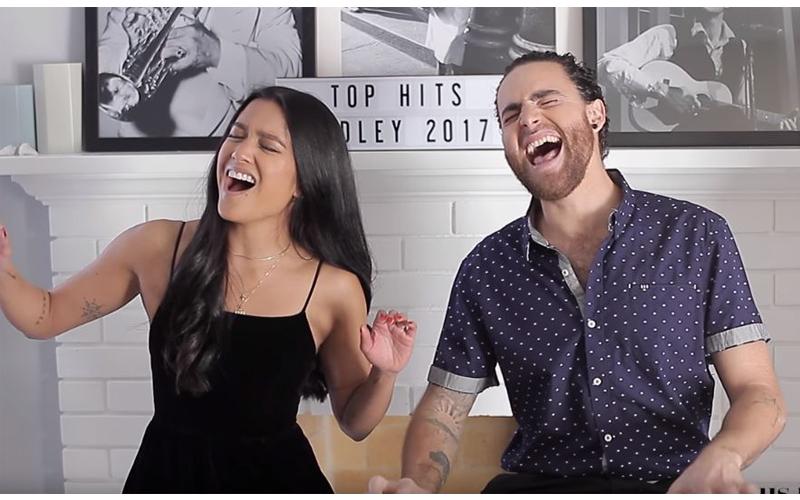 夫妻倆把「18首年度金曲濃縮4分鐘」,完美合音下一秒突「RAP +Beatbox 口技」網友:快出單曲!