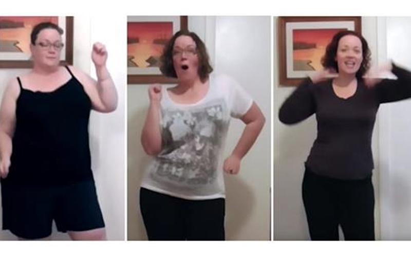 140KG肉肉女持續跳8個月甩65KG,瘦身前後模樣曝光...網友讚:縮小3倍!