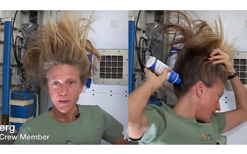女太空人示範在「無重力情況下」洗頭,意外透露洗髮後「水分會當飲用水」,網友全傻眼!