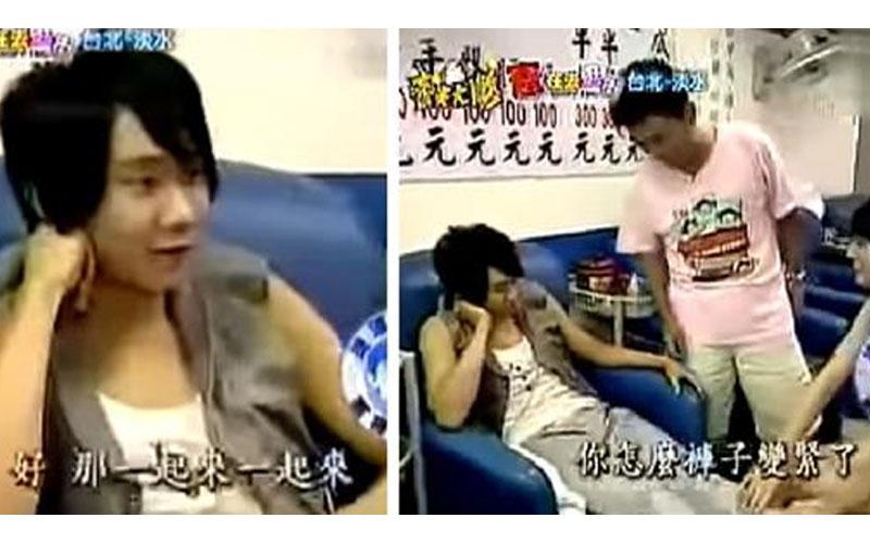 13年前節目上吳宗憲惡整林俊傑,正妹脫衣按摩「褲子突然變緊」...網笑:好青澀!