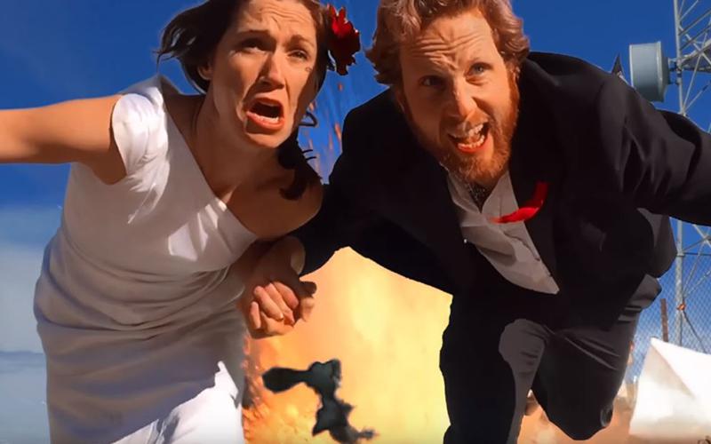 這對新人將婚禮邀請函「拍成007動作片」!最後一幕爆破場面史上最狂