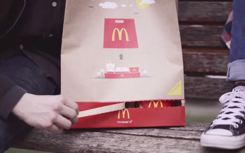 外國麥當勞提袋設計「暗藏玄機」 下緣輕輕一撕秒變「紙餐盤」超方便!