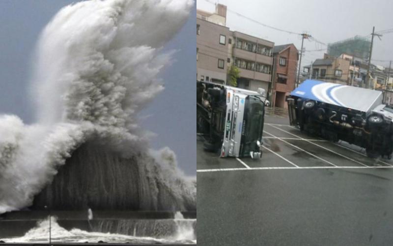 超強颱風燕子重創日本!車掀屋毀「機場變汪洋」大量航班取消