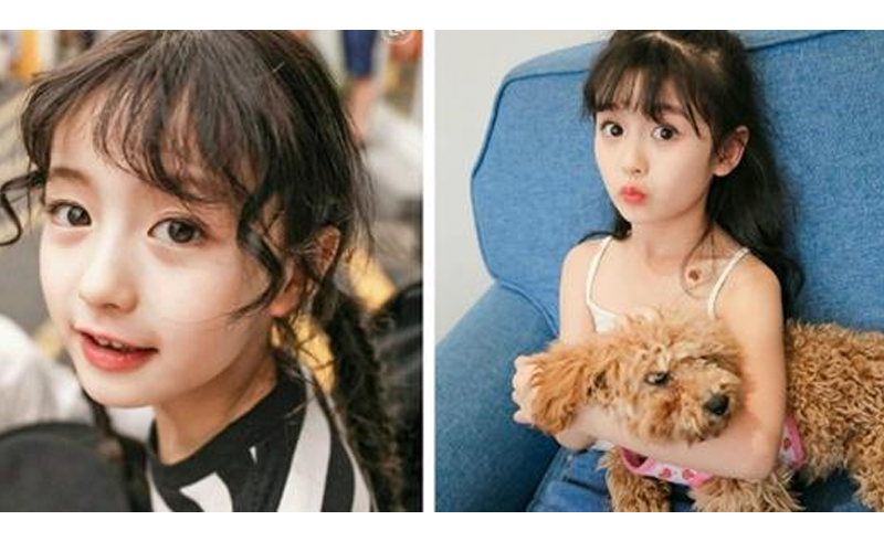 抖音爆紅9歲可愛小女孩「擁有天使般美貌」,精緻五官 + 甜美笑容狂吸粉,連身價破億CEO直呼:等她長大!