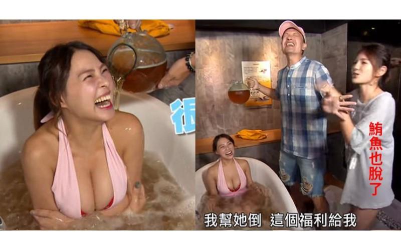 小鐘主持這節目讓人好嫉妒!拿酒淋「熊熊」下秒又親灌「鮪魚」…網友:「小鐘是不是過太爽!」