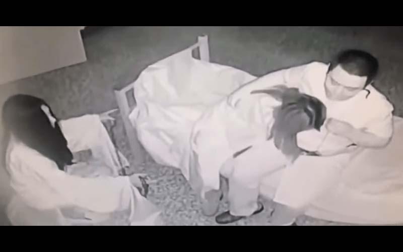 網路瘋傳一段「鬼屋監視器畫面」讓人看了一頭霧水!網友:旁邊的女鬼都害羞了!