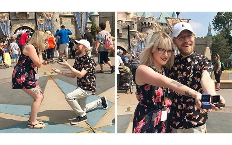 和男友同遊迪士尼女子「掏戒指求婚」 男友噴笑當場跪下:天啊!我這裡也有一枚…