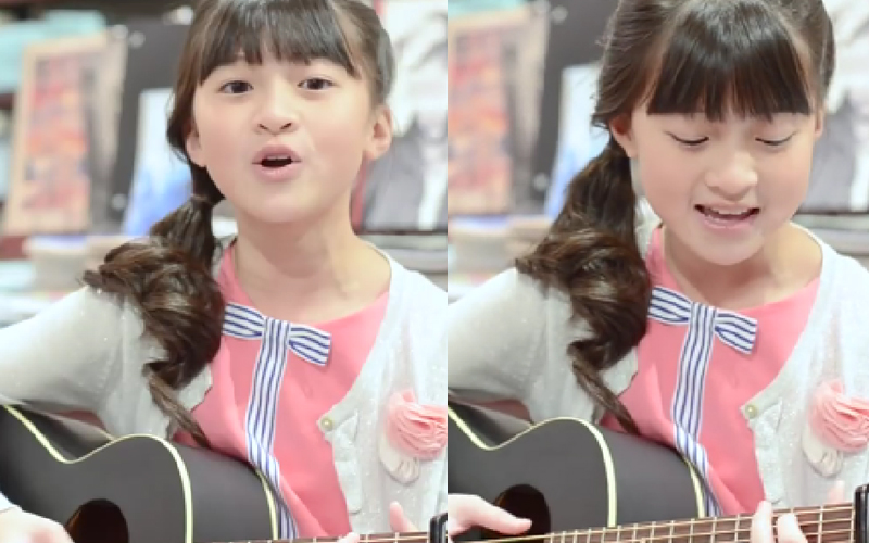 達人秀亞軍13歲女孩登台選秀節目!「6歲出專輯」甜美嗓音 + 自彈自唱,網友直呼:超級大魔王!