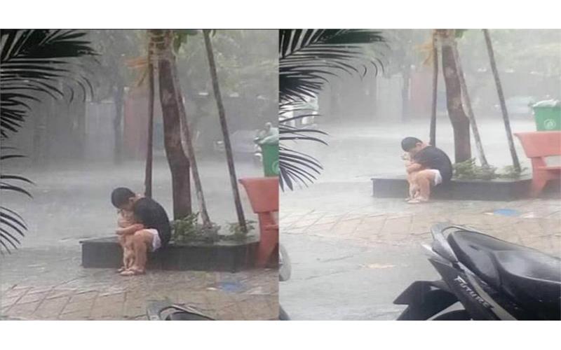 父母反對養狗!男孩大雨中抱著狗狗告別:對不起,我不想離開你。