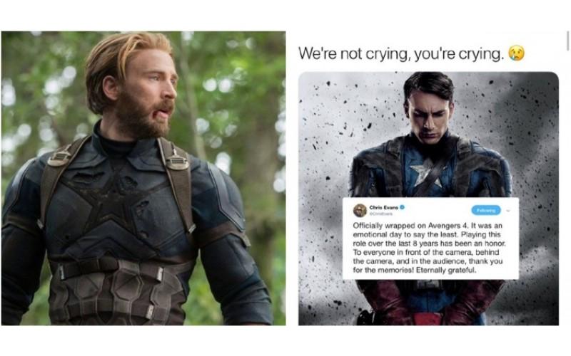 《復仇者4》真的了結美國隊長了!克里斯伊凡斯正式「告別漫威」 讓全網明星共同崩潰:好想哭啊