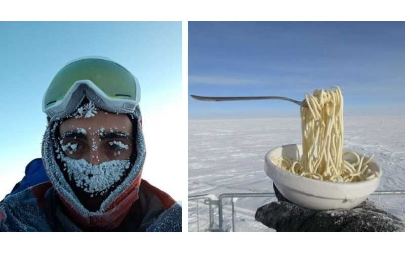 科學家示範「在零下80度南極」煮食物!蛋打出來「秒變裝置藝術」